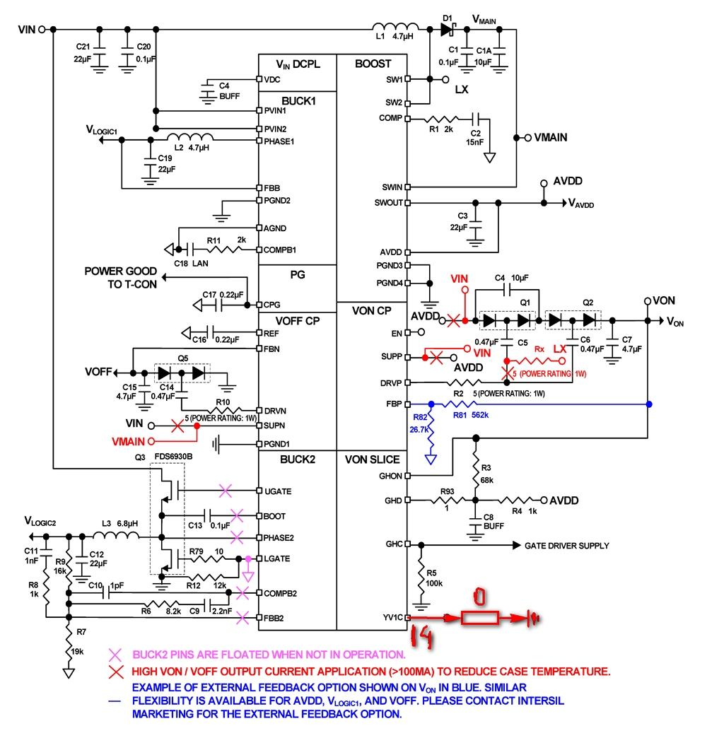 Схема t con samsung 193